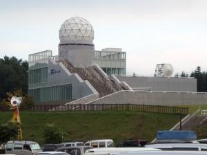 道の駅 以前富士山にあった古い観測所の建造物
